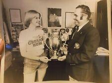 VTG PHOTO  Miss CRUZAN RUM  Mayor of Newport RI TROPHY 1970's  8x10
