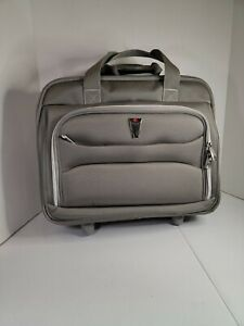 DELSEY grey Rolling CARRYON Travel LUGGAGE Laptop LIGHT BUSINESS BRIEFCAS