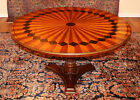 Stunning Inlaid Mixed Wood Italian Style Ornate Occasional Center Dining Table