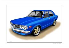 MAZDA RX3  SEDAN    LIMITED EDITION CAR DRAWING PRINT  (7 CAR COLOURS)
