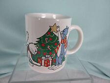 China Pearl Co Ceramic Coffee Mug Christmas Tree Cats Celebrate Presents New