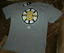Boston Bruins Adidas t-shirt men's large NEW with Tags 24 49 NHL gray throwback