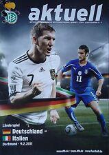 Programm LS 9.2.2011 Deutschland - Italien in Dortmund