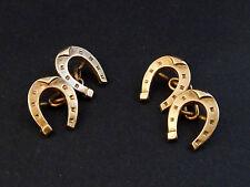 Anciens boutons de manchette en plaqué or MURAT fer à cheval