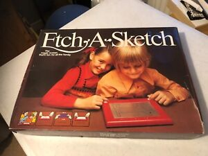 Etch a Sketch, early 1980 edition.  Vintage toy