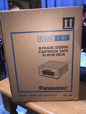 Vintage Panasonic Rs-801Us 8 Track Player (Working) Has Original Box Great Shape