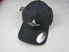 Adidas Climacool Charcoal Chino Hat Fitted S/M Logo Angel Fire Resort FlexFit
