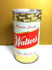 """Walter's metal pull tab can 12 oz. walter brewing company Eau Claire 4.75"""" AS6"""