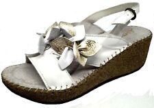 LA COCCINNELLA sandali donna zeppa LINEA CONFORT art 11111 pelle bianca slipper