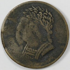 1820 Lower Canada Bust and Harp Token