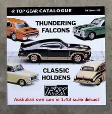 TRAX CATALOGUE 1998 diecast 1/43 model brochure XC FALCON XY GT HOLDEN FB EH HQ
