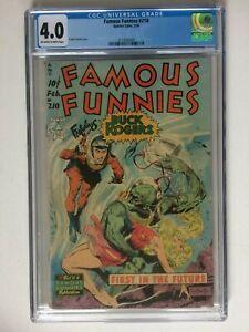 Famous Funnies #210, UNRESTORED, CGC 4.0, excellent case, Frazetta cover!