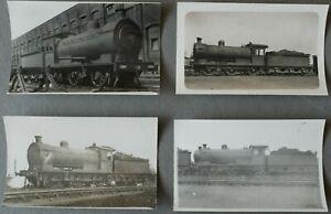 LNER EX NER CLASS J27 0-6-0 LOCOMOTIVES 2354 etc, 4 REAL PHOTO POSTCARDS