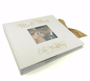 "Large Wedding Photo Album 50 6x8"" with verse design Gift WG707"