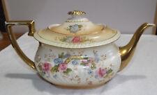 Antique Crown Devon Fielding's, 'May' pattern Blushware Tea Pot Rd #653216