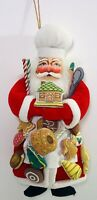 Vintage Christmas Corner Santa Claus Baker Plush with Hand Painted Face 12 in