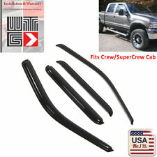 WTG Window Visor Shade Guard 1999-2016 Ford F-250 F250 SuperCrew Crew Cab 4pc