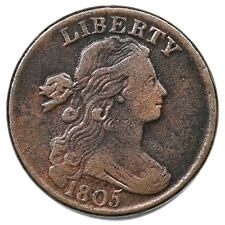 1805 S-267 Draped Bust Large Cent Coin 1