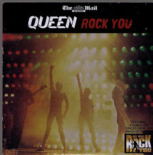 1 newspaper promo cd QUEEN ROCK YOU 10 live tracks 70s 80s rock pop