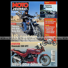 MOTO JOURNAL N°1250 YAMAHA 650 DRAG STAR KAWASAKI GPZ 500 GP EASTERN CREEK 1996