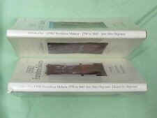 Ohio Furniture Makers Two Volume  Set w/ Dust Jackets  (antique furniture)