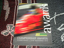 2010 BRSCC AWARDS DINNER DANCE ITINERARY/MENU CARD