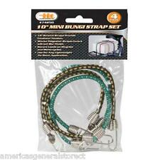 "4 pcs 10"" MINI BUNGEE STRAP SET (colors vary) bike rack tiedown lightweight THIN"
