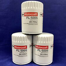 Set of 3: Genuine Motorcraft Professional Engine Oil Filter FL500S AA5Z-6714-A