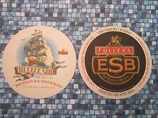 Beer Bar COASTER ~ FULLER'S Brewing ESB ~ The Olde Ship British Pub, CALIFORNIA