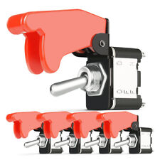 5Pack Waterproof Marine Toggle Switch 12/24V 20A Boat 2PIN On/Off Button w/Cover