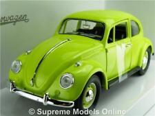 VOLKSWAGEN BEETLE MODEL CAR GREEN 1:24 SCALE ROAD SIGNATURE 110271 1967 K8Q