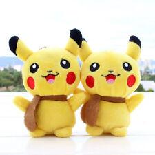 1pc Plush Lovely POKEMON GO Keychain Pendant cellphone strap Pikachu Figures