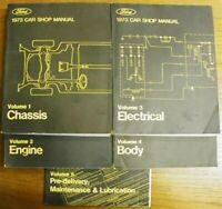 Ford 1973 Lincoln Mercury Shop Service Manual Set New Mustang Thunderbird Pinto
