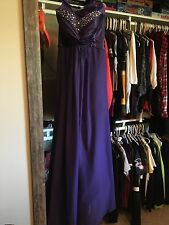 Violet Sweetheart Neckline Prom Dress, Size 4