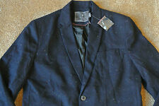 URBAN OUTFITTERS HAWKINGS MCGILL Herringbone Navy Blazer Sport Coat L NWOT Wool