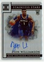 2019-20 Panini Impeccable Stainless Stars Auto 42/49 Zion Williamson RC Rookie