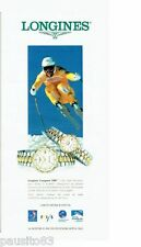 PUBLICITE ADVERTISING 116  1994  Longines  montre Conquest VHP sierra Nevada