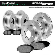 Front+Rear Rotors Metallic Pads For Chevy Silverado Suburban Tahoe Sierra Yukon