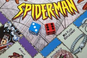 MONOPOLY SPIDERMAN Collectors Edition - Replacement Red & Blue Dice