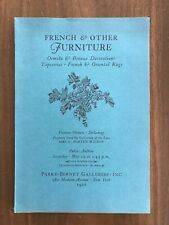 FRENCH & OTHER FURNITURE May 25 1968 Parke Bernet Auction Catalog