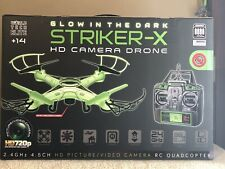 Striker-X Glow-In-The-Dark 2.4GHz - 4.5CH Remote Control RC HD Camera Drone