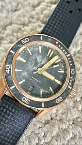 Zelos Swordfish 40 Bronze Forged Carbon Automatic Divers Watch Submariner New