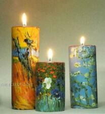 VAN GOGH Set of Three IRIS WILLOW CERAMIC CYLINDER CANDLE HOLDER TEALIGHT FLORAL