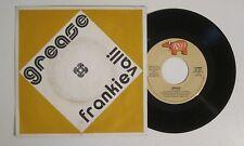 "FRANKIE VALLI "" GREASE "" 45 RPM RECORD ORIGINAL UNIQUE BELGIAN DJ PICTURE SLEEVE"