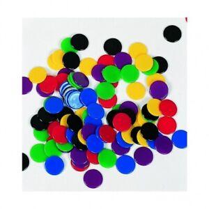 100 Spielchips in 6 Farben - 22 mm