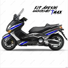 ADESIVI ANNIVERSARY CARENA COMPATIBILE YAMAHA TMAX T-MAX 01 07 BIANCO BLU SPORT