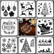8X Layering Stencils Christmas Embossing Template Painting Scrapbooking Decor