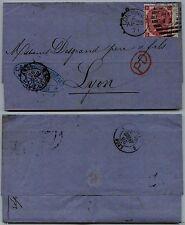 INGHILTERRA - 1871 - 3 pence (33 Tav6) - Lettera x Lione 25.4