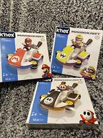 K'NEX Mario Kart Shy Guy And Wario Kart  And Mario Building Kit Set Lot Of 3 New