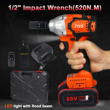 12 Cordless Impact Wrench Gun Driver Brushless High Power Tool With Tool Case